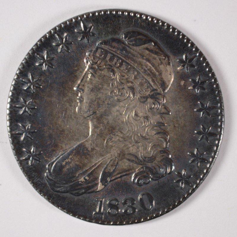 1830 BUST HALF DOLLAR CH BU BEAUTIFUL COLOR!