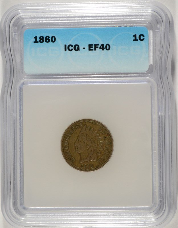 1860 INDIAN CENT ICG EF-40