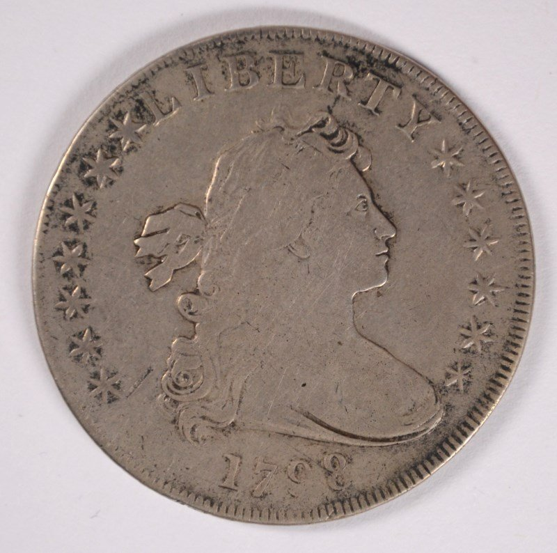 1798 DRAPED BUST DOLLAR VF/XF