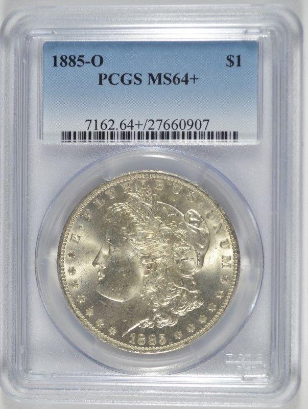 1885-O MORGAN DOLLAR PCGS MS-64+