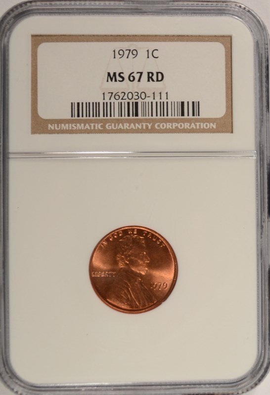 1979 LINCOLN CENT NGC MS-67 RD
