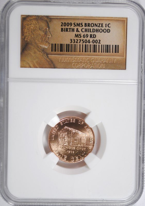2009 SMS BRONZE BIRTH & CHILDHOOD LINCOLN CENT NGC