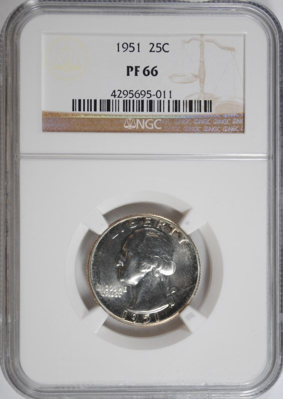 1951 WASHINGTON QUARTER, NGC PF-66  BETTER DATE!