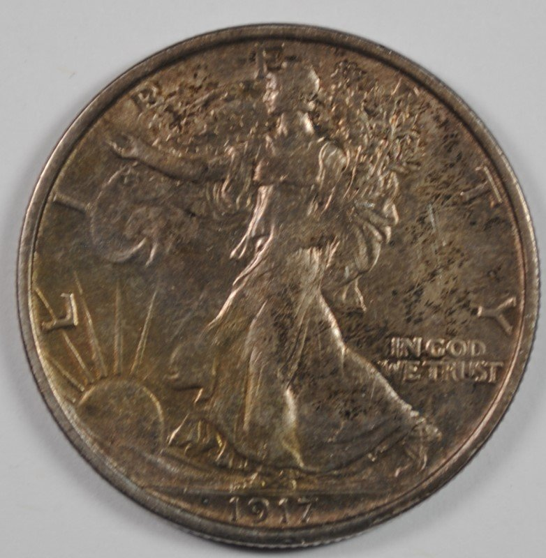 1917-S (R) WALKING LIBERTY HALF DOLLAR CH BU RARE