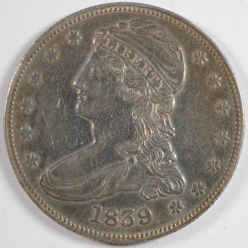 1839 BUST HALF DOLLAR AU