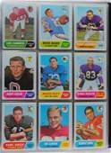 1968 TOPPS FOOTBALL SET Missing 4 Cards Beautiful