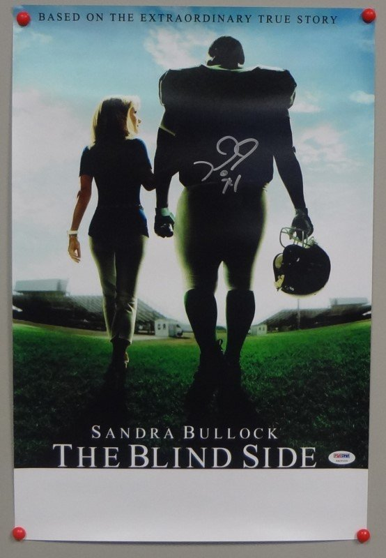 Michael Oher SIGNED 11x17 The Blind Side Poster Ravens