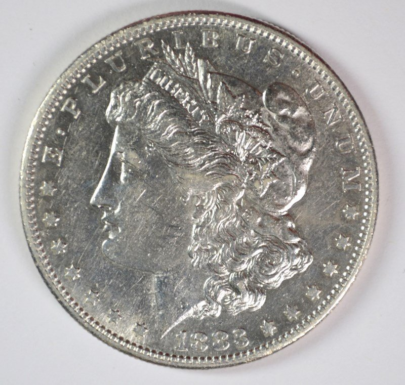 1883-S MORGAN DOLLAR AU/UNC SEMI-KEY