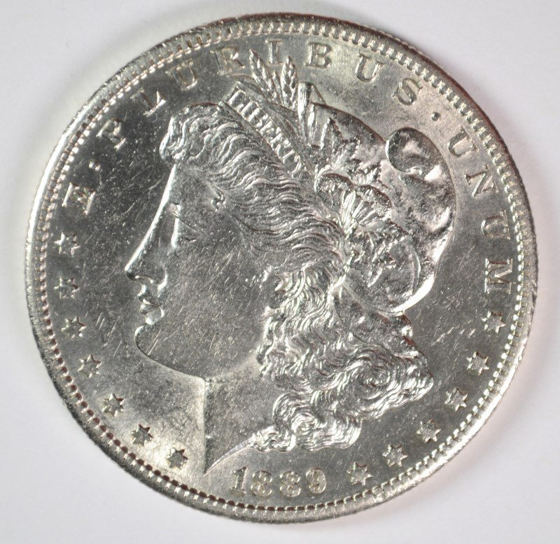 1889-S MORGAN DOLLAR CHOICE BU SEMI-KEY
