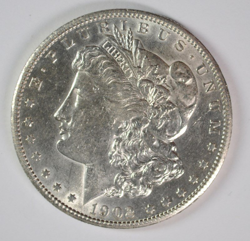 1902-S MORGAN DOLLAR CHOICE BU SEMI-KEY