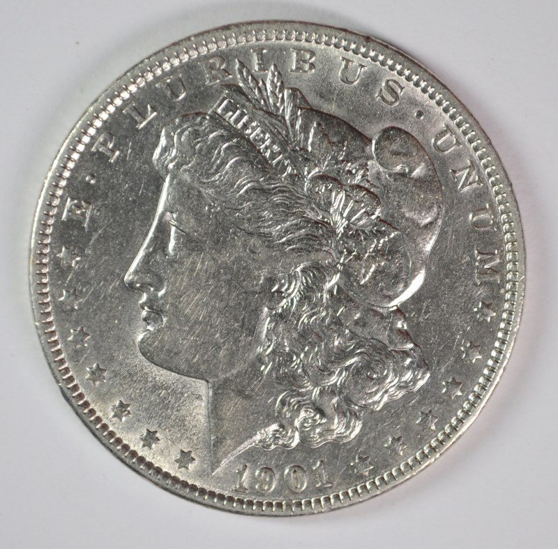 1901 MORGAN DOLLAR AU/UNC SCARCE IN HIGH GRADE