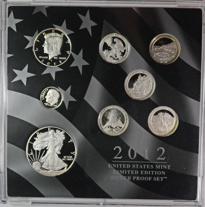 2012 LIMITED EDITION SILVER PROOF SET WITH ORIGINAL