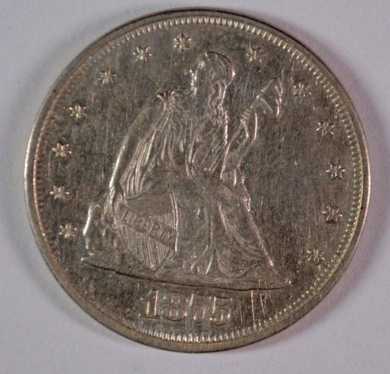 1875 20 CENT PIECE AU