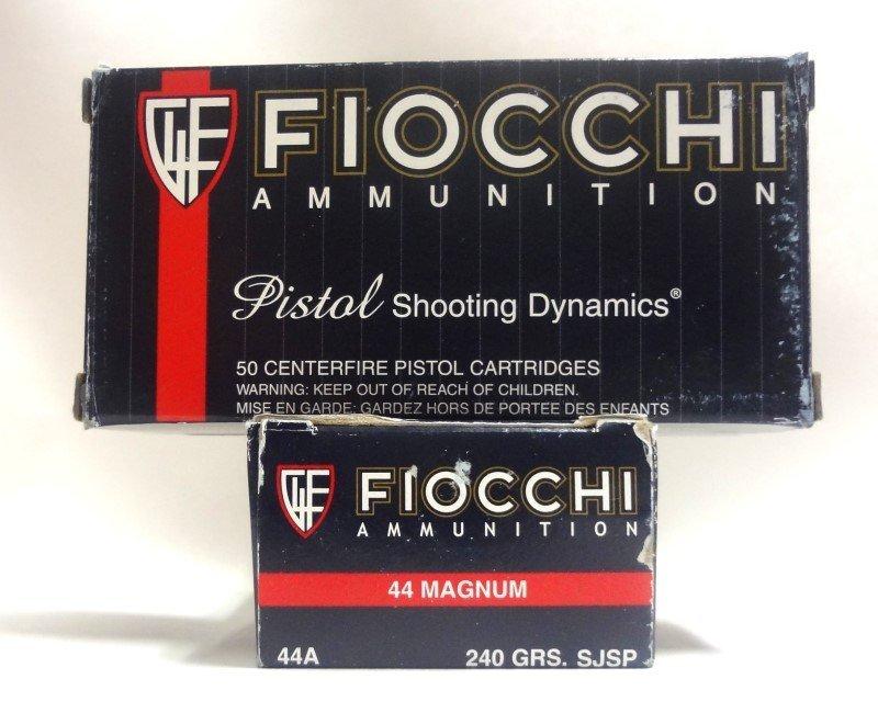 2 Boxes of Fiocchi 44 magnum Ammunition