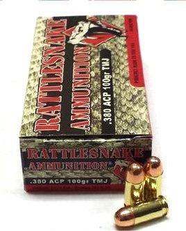 2 Boxes of Rattlesnake Ammo .380 ACP