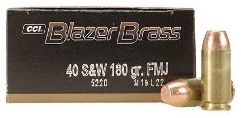2 Boxes of Federal Blazer Brass .40 S&W