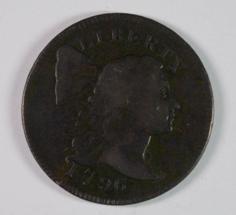 1796 LIBERTY CAP LARGE CENT VF+ RARE
