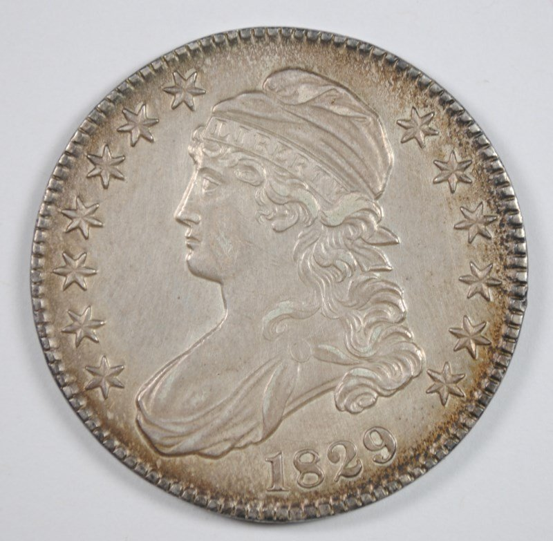 1829 BUST HALF DOLLAR, CHOICE AU