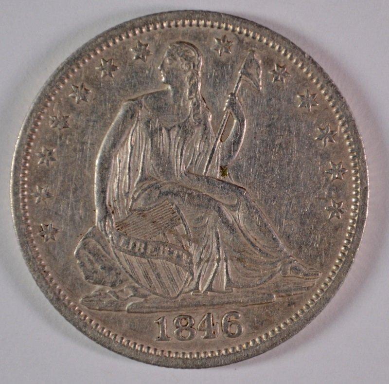 1846-O SEATED LIBERTY HALF DOLLAR, AU