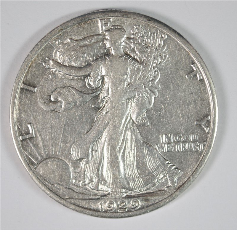 1929-D WALKING LIBERTY HALF AU