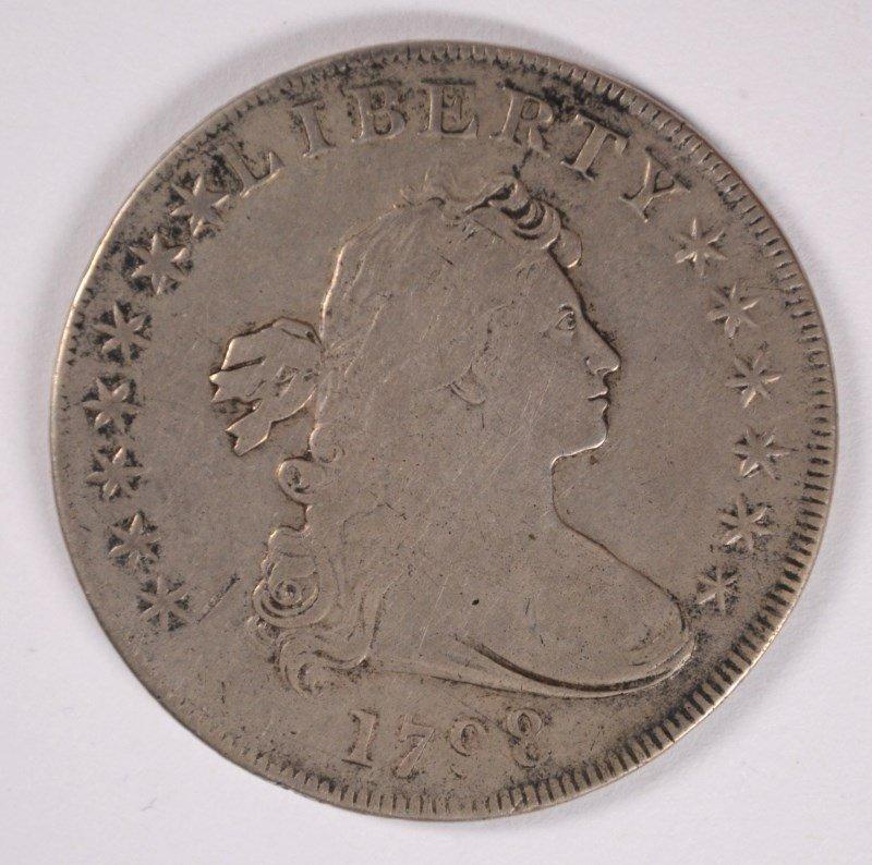 1798 DRAPED BUST DOLLAR,  VF/XF  NICE!
