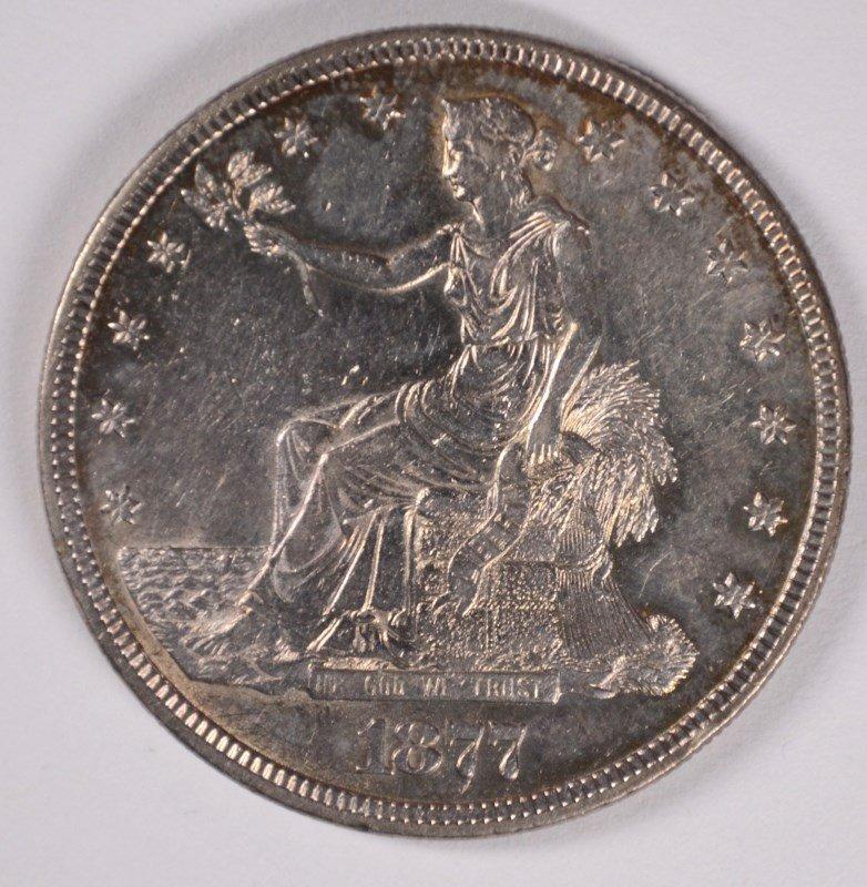 1877 TRADE DOLLAR, AU+
