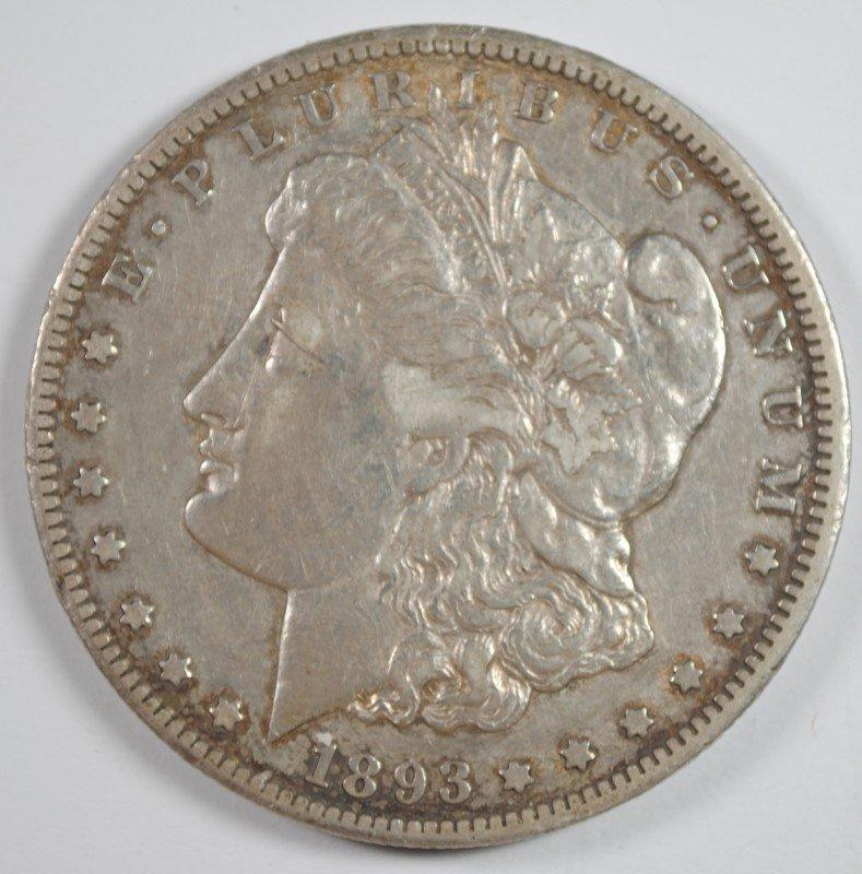 1893-CC MORGAN DOLLAR XF+