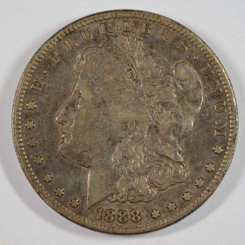 1888-S MORGAN SILVER DOLLAR XF