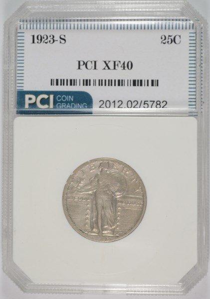1923-S STANDING LIBERTY QUARTER, PCI XF  RARE KEY!