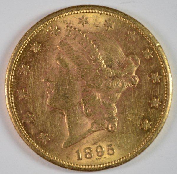 1895-S $20 LIBERTY GOLD CH BU RARE DATE