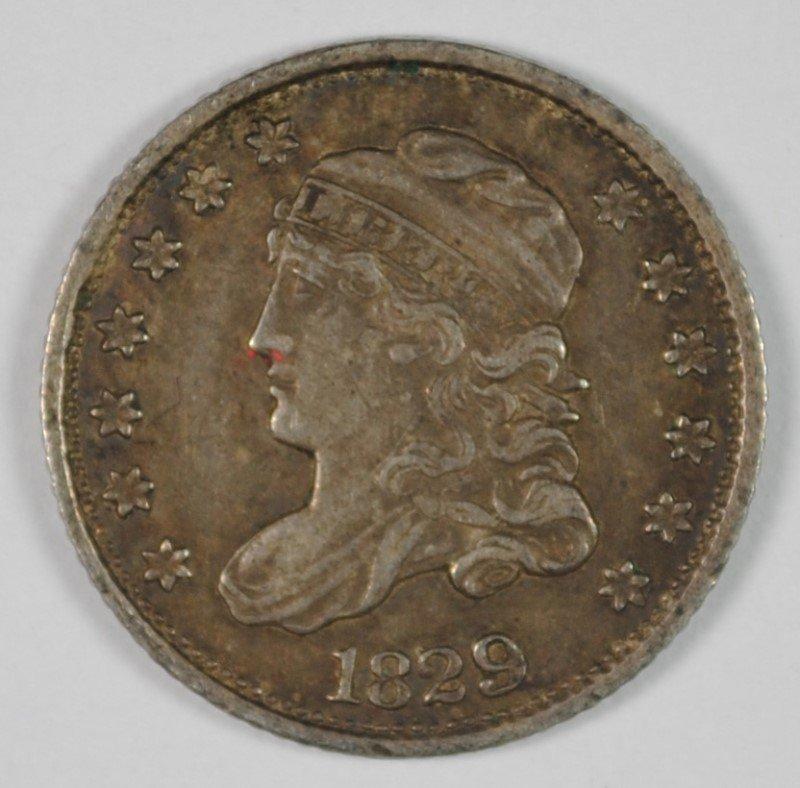 1829 BUST HALF DIME ORIGINAL AU