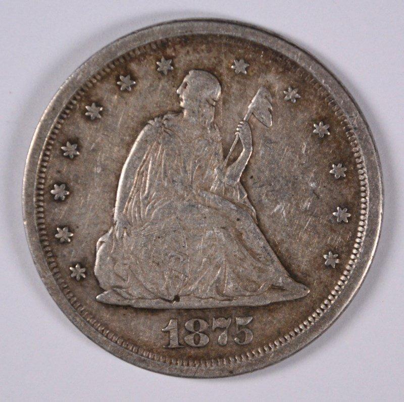 1875-S TWENTY CENT PIECE XF