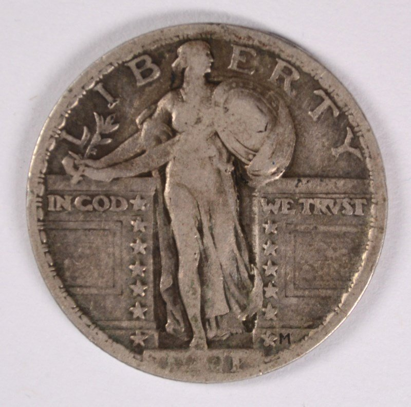 1921 STANDING LIBERTY QUARTER, VF