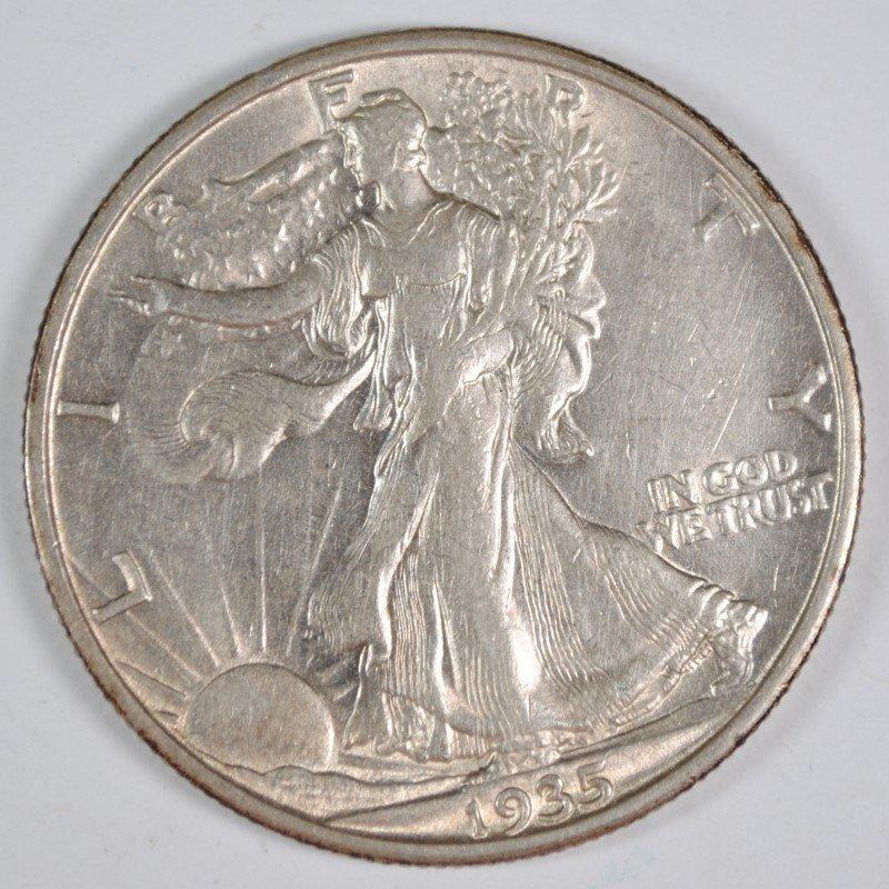 1935-S WALKING LIBERTY HALF AU++