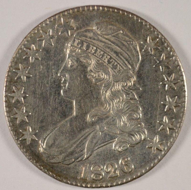 1826 BUST HALF DOLLAR AU/BU