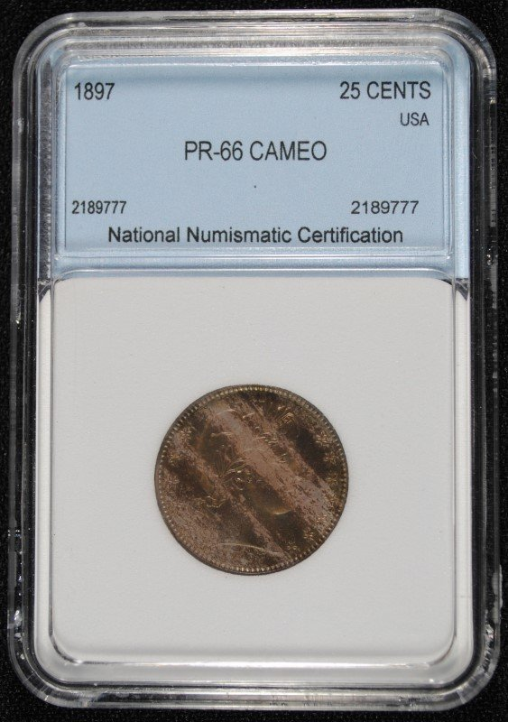 1897 BARBER QUARTER NNC SUPERB GEM CAMEO!