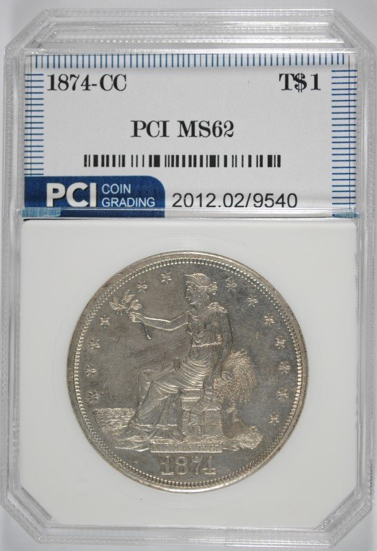 1874-CC TRADE DOLLAR PCI BU