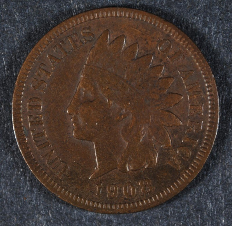 1908-S INDIAN HEAD CENT, XF  KEY DATE!