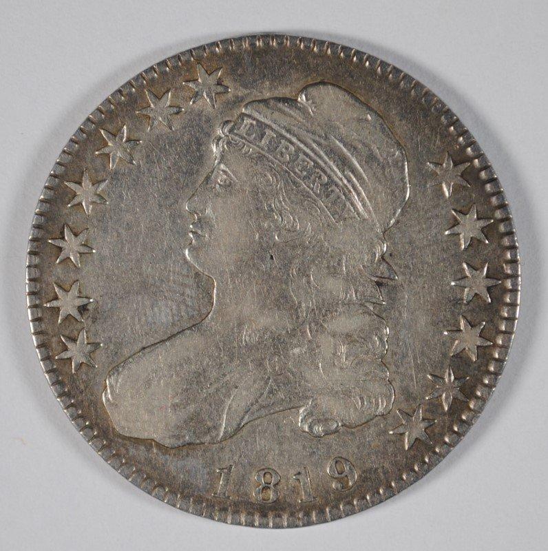 1819 BUST HALF DOLLAR, XF+ NICE