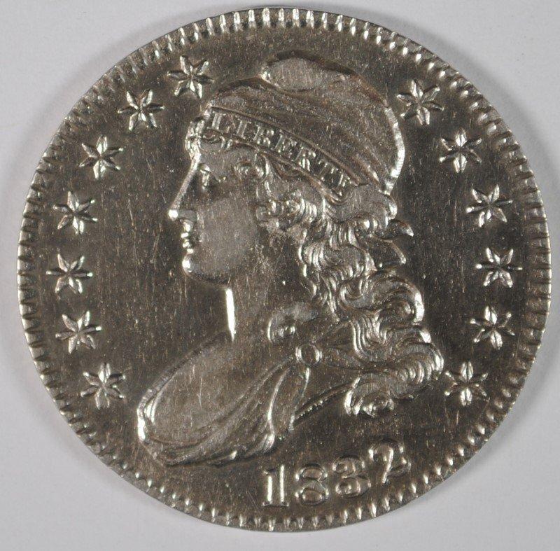 1832 BUST HALF DOLLAR, AU/UNC  NICE