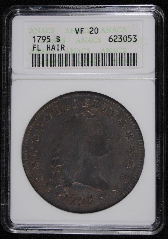 1795 FLOWING HAIR DOLLAR, ANACS VF-20  OLD HOLDER