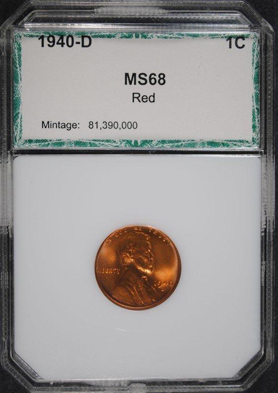 1940-D LINCOLN CENT PCI SUPERB GEM BU RED