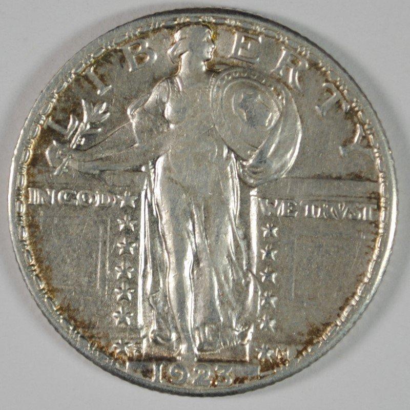 1923-S STANDING LIBERTY QUARTER CH AU