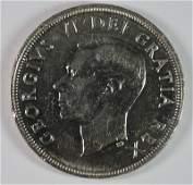 1948 CANADA SILVER DOLLAR CH BU RARE KEY DATE VERY