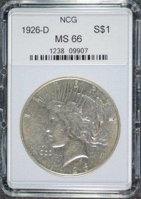 1926-d Peace Dollar Ncg Superb Gem