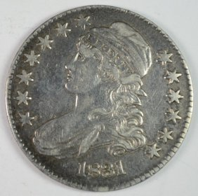 1831 Capped Bust Half Xf+