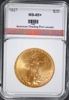 1927 $20.00 St Gaudens Gold Agp Gem Unc