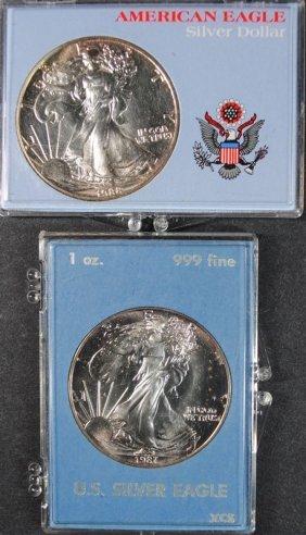 1987 & 1988 Gem Bu American Silver Eagles