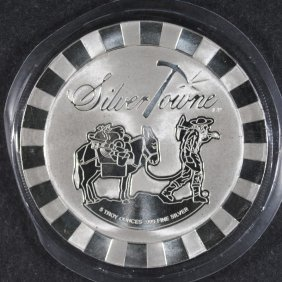 Five Ounce .999 Silver Round ( Prospector ) From