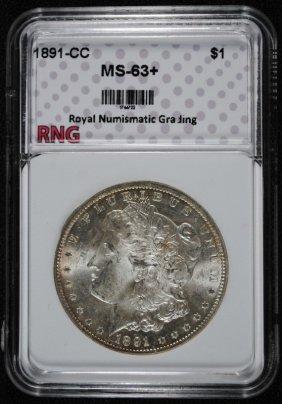 1891-cc Morgan Dollar Rng Graded Ch Bu+